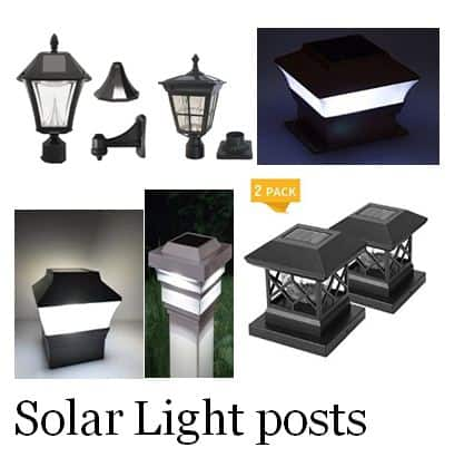 best outdoor solar lamp post light