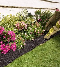 Recycled rubber Lawn edging