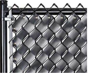 privacy fence tape on chain link fence