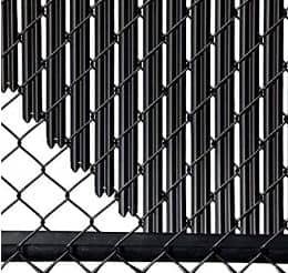 how to convert a chain link fence into a privacy fence