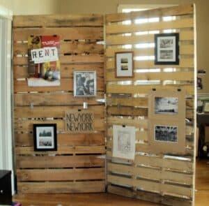 wooden pallent room divider