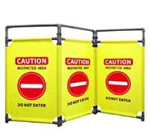 pvc crowd control barriers