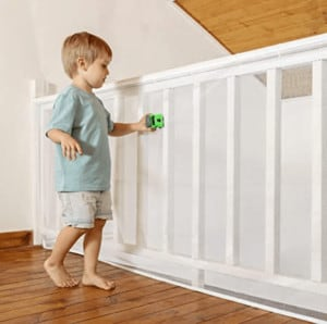 baby proof stair railing safety mesh