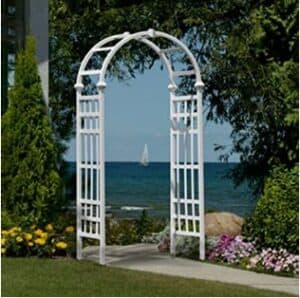 best choice products decorative steel garden trellis arbor