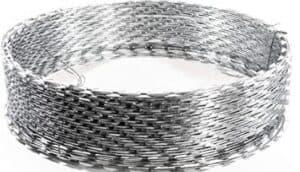 galvanized razor barbed wire fence