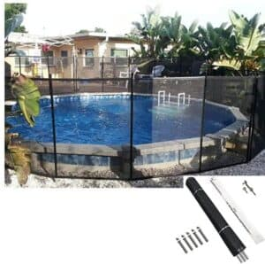 Pool safety net cover