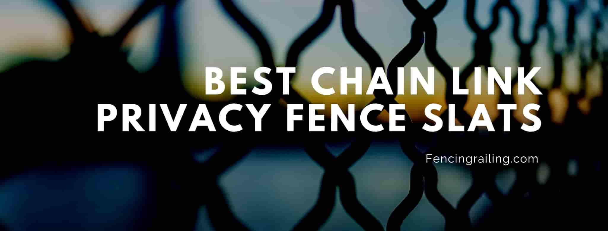 Chain Link Privacy Slats