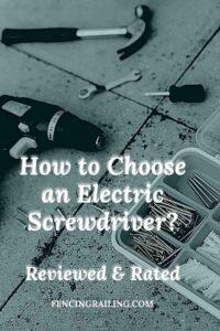 best cordless power screwdriver