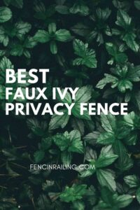 faux ivy privacy weather-resistant fence cover