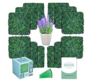 artificial boxwood hedge greenery panels