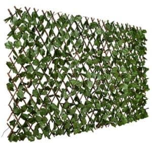 expandable fence with leaves