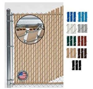 vinyl fence slats for chain link