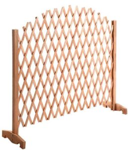 free standing fence sections wooden
