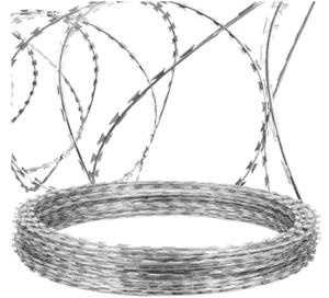 razor blade barbed wire fence
