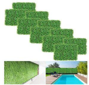 faux boxwood hedge panels