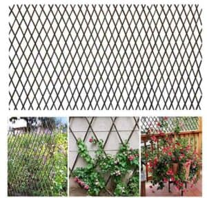 bamboo expandable willow fence or trellis