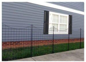 Residential metal fencing